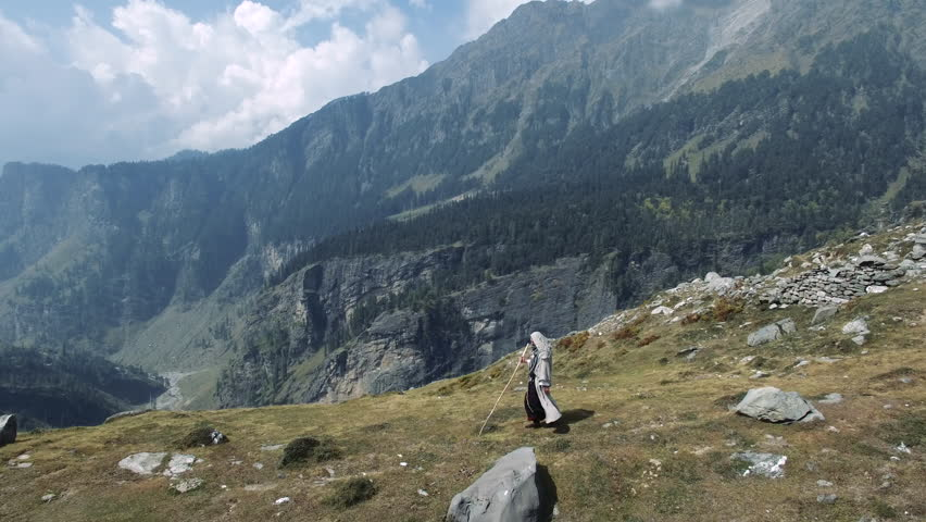 Jesus in the Galilean mountains, the Holy Land
