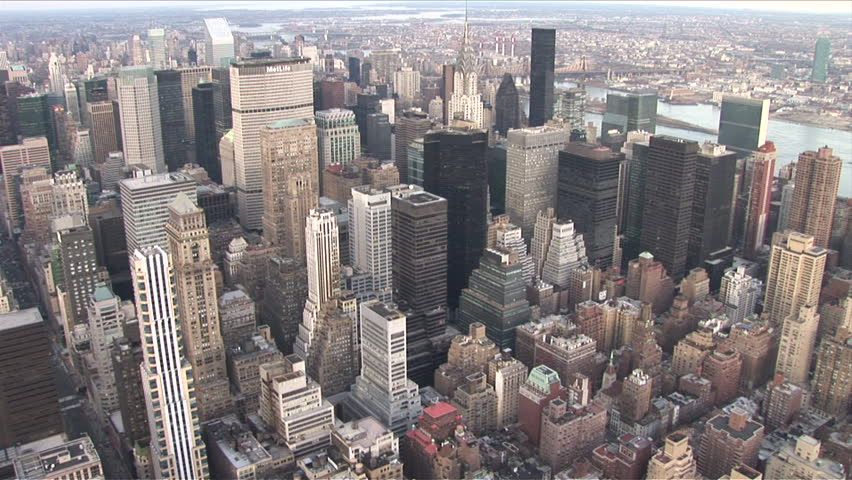 New York, NY - CIRCA March 2006: Zoom into one of the many tall buildings in Manhattan, which is full of those things | Shutterstock HD Video #2474891
