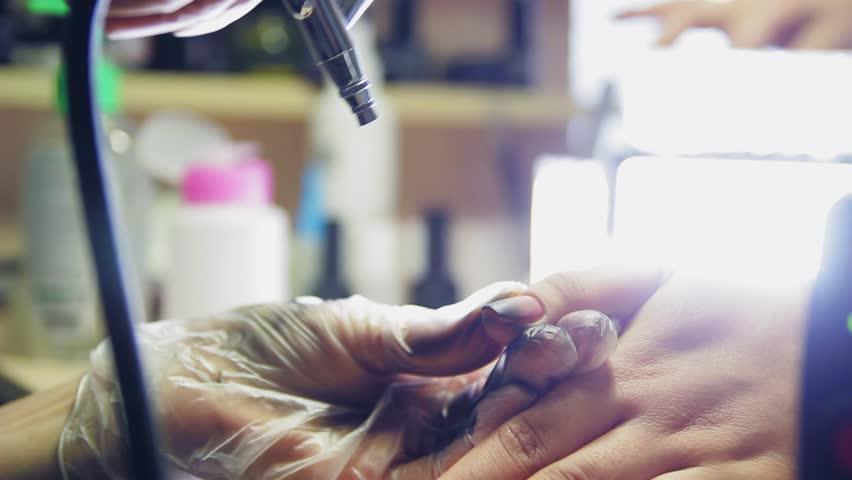 Girl nail salon, the work of nail artist | Shutterstock HD Video #24750365