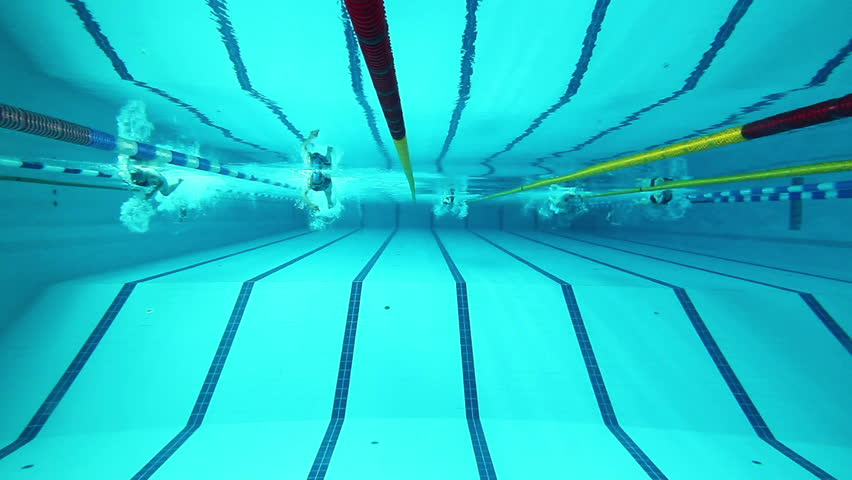 Stock video of swimming pool and swimmer during the 2478371 shutterstock for Swimming pool certification course