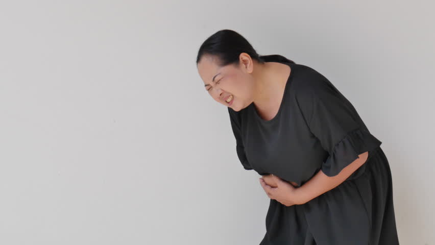 Asian woman food poisoning video