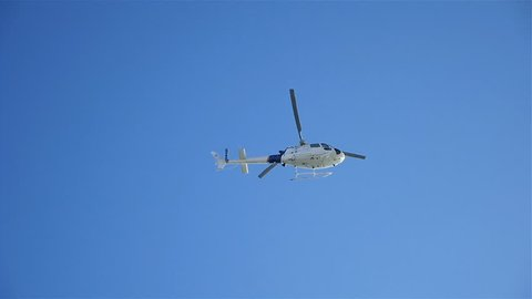 High quality video of helicopter flight