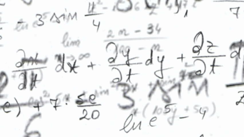 Maths Equation Loop With Alpha Stock Footage Video 100 Royalty