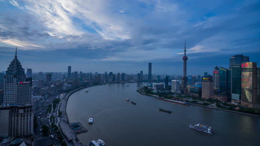 Modern buildings in midtown of shanghai.time lapse  | Shutterstock HD Video #24897371