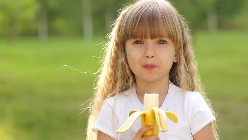 Young Girl Banana