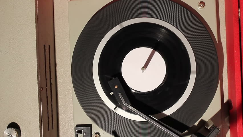 Spinning vinyl disc with white blank label | Shutterstock HD Video #24946841