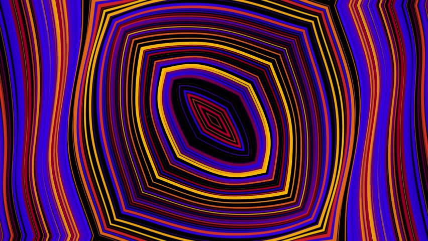 Animated computer color composition in the style of a kaleidoscope