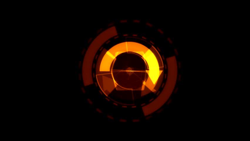 Arrow Interface Data Loader Orange Glow Circular Round with Alpha Channel.