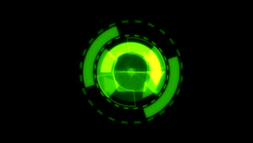 Arrow Interface Data Loader Green Glow Circular Round with Alpha Channel.