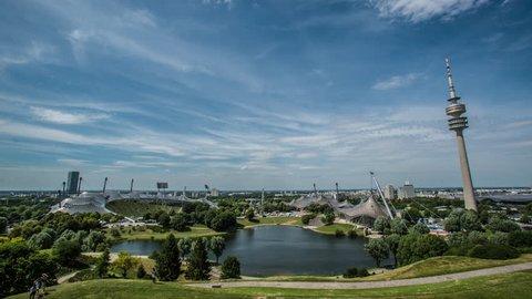 Timelapse Olympic Park Munchen