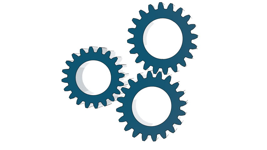 Gears rotate brain wheel idea Mechanics seamless loopable 3D flat on white background render animation  | Shutterstock HD Video #25133981