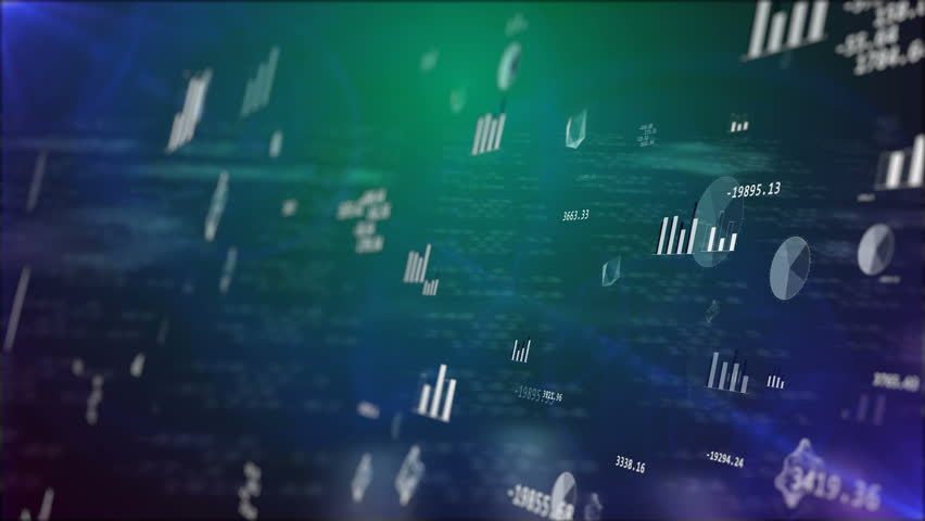 Business background with stock market elements: graph, bars, etc. | Shutterstock HD Video #25134023