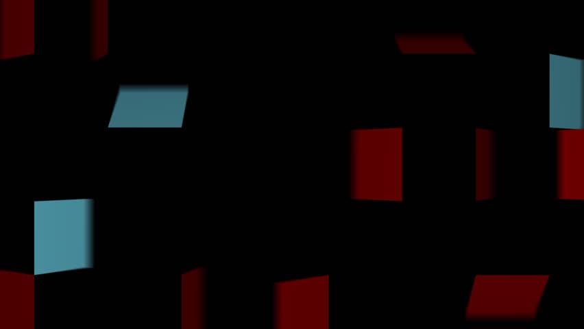 Folding square stripe transition red blue | Shutterstock HD Video #25179251