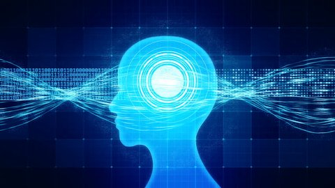 High-functioning brain processing information, memory boost, perfect human. Neuroscience, process of learning, human or AI brain memory