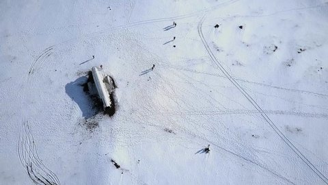 Solheimasandur Plane Crash in a Snowy Landscape in Iceland