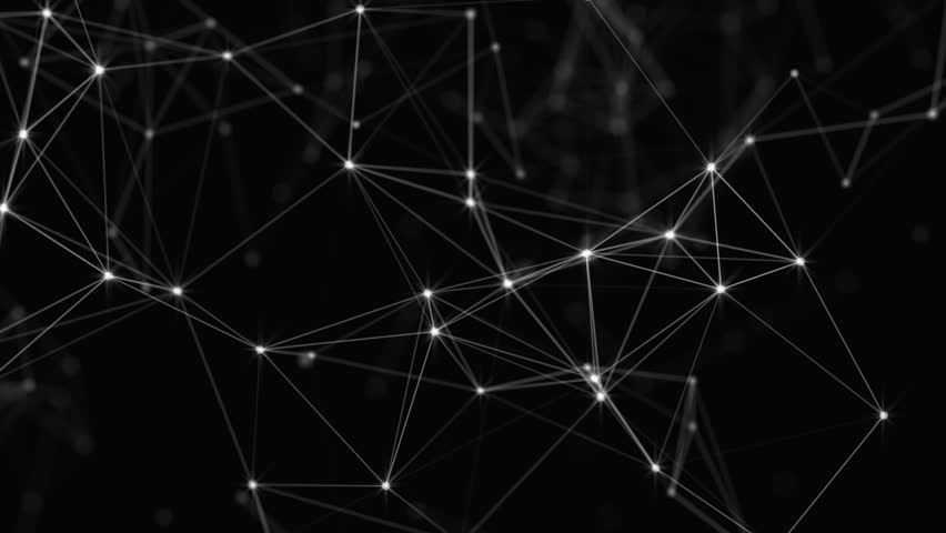 Plexus of abstract lines, triangles and dots. Loop animations.