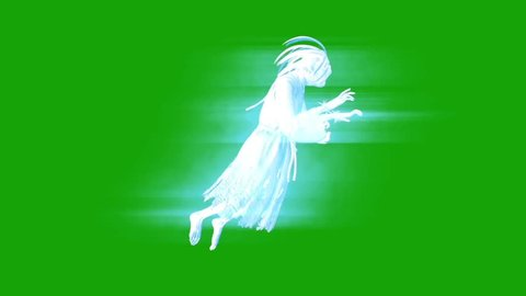 Terrifying Ghost Hangman Horror Green Screen 3D Rendering