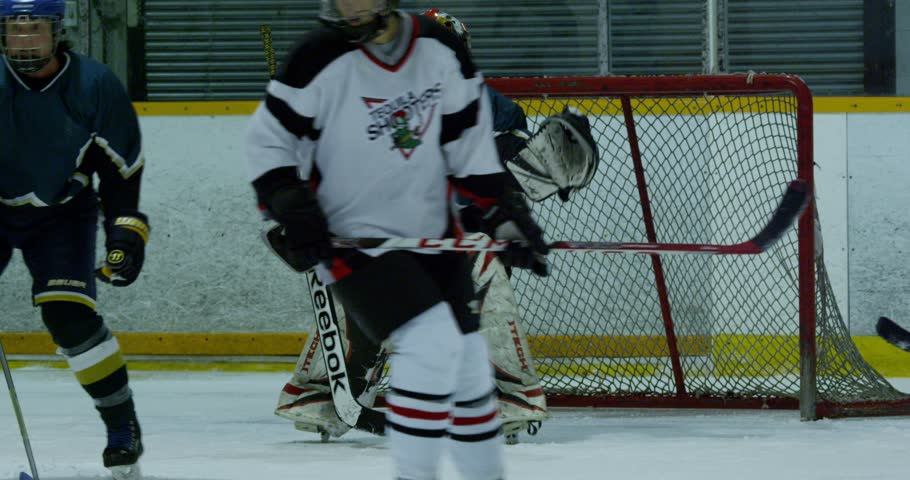 Hockey Woman Goalie Kick Save Stock Footage Video 100 Royalty Free 25275251 Shutterstock