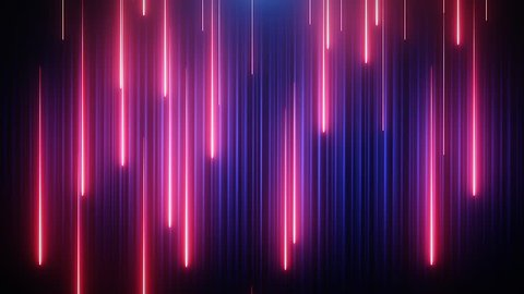 Red-blue neon animated VJ background