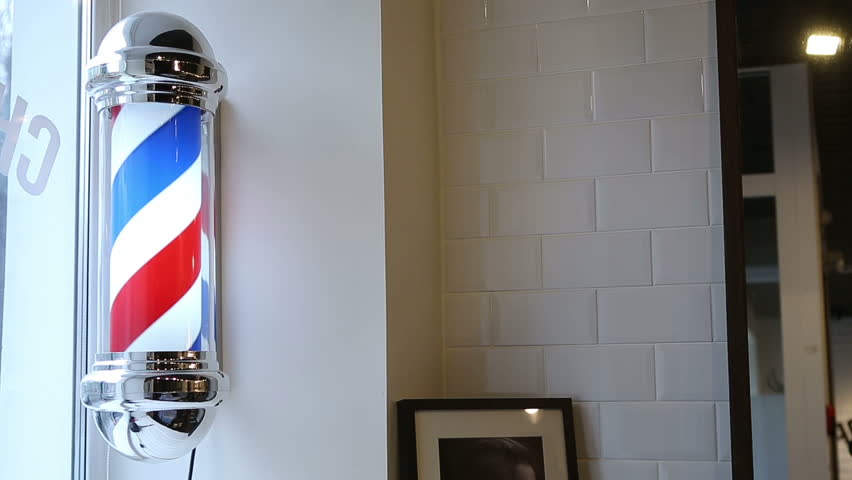 Barbershop pole on the wall | Shutterstock HD Video #25363541