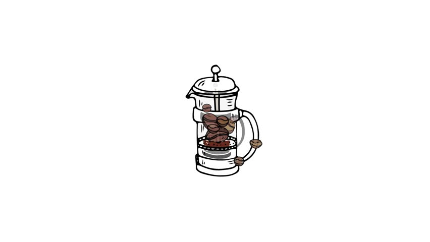 Hand Drawn Doodle Coffee Related Stock Footage Video (100% Royalty-free)  25388711 | Shutterstock