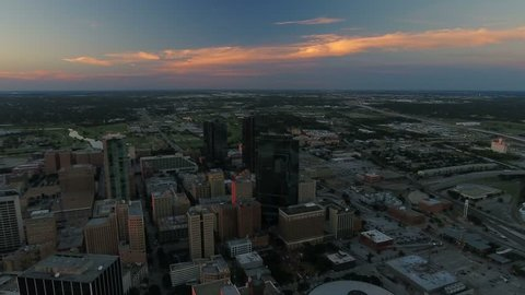 Aerial Texas Fort Worth September 2016 4K