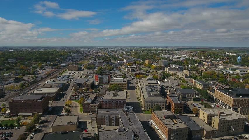Aerial North Dakota Fargo September 2016 4K