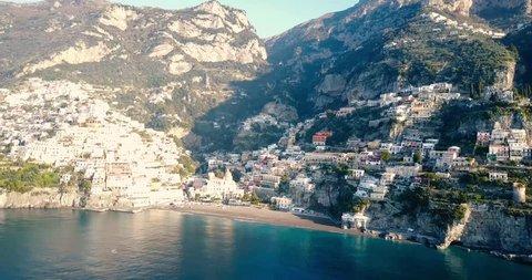Aerial view of Positano , Amalfi coast, Italy.