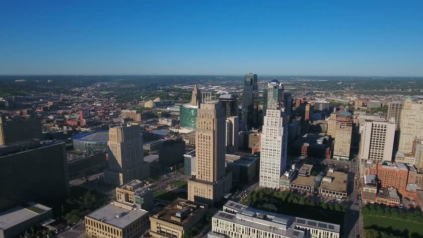 Aerial Missouri Kansas City September 2016 4K