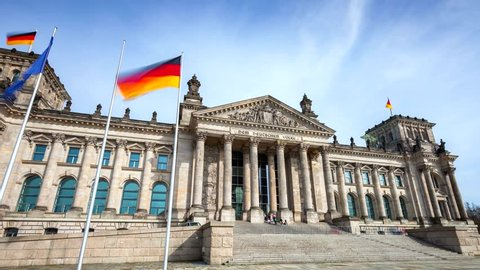 BERLIN- GERMANY,,  Bundestag building by day.