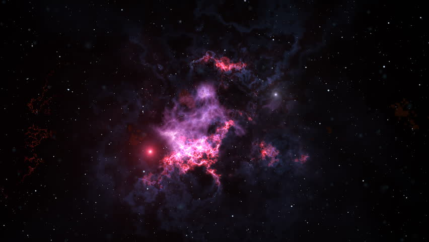 Space animation background with nebula, stars. The Milky Way, the Galaxy and the Nebula #25459841