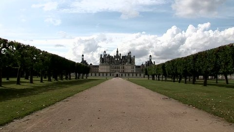 The Châteaux of the Loire Valley Chambord Castel  are part of the architectural heritage of the historic towns of along the Loire River in France. UNESCO  World Heritage Site.