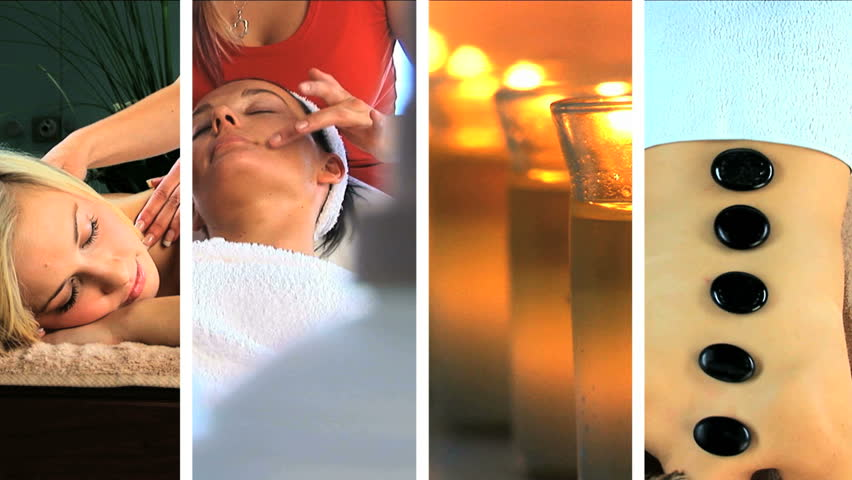 Images of luxury spa treatments