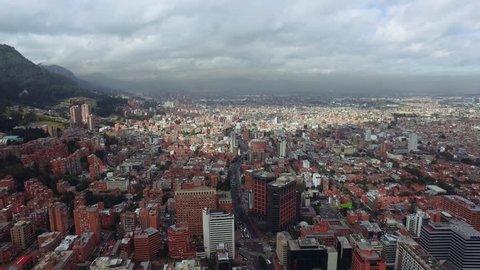 Aerial Cityscape Bogota Colombia 07