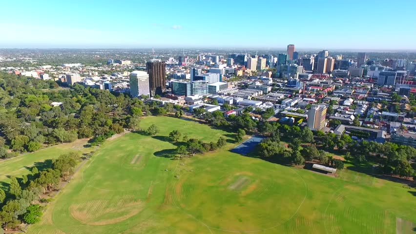 Aerial view adelaide city in south Australia