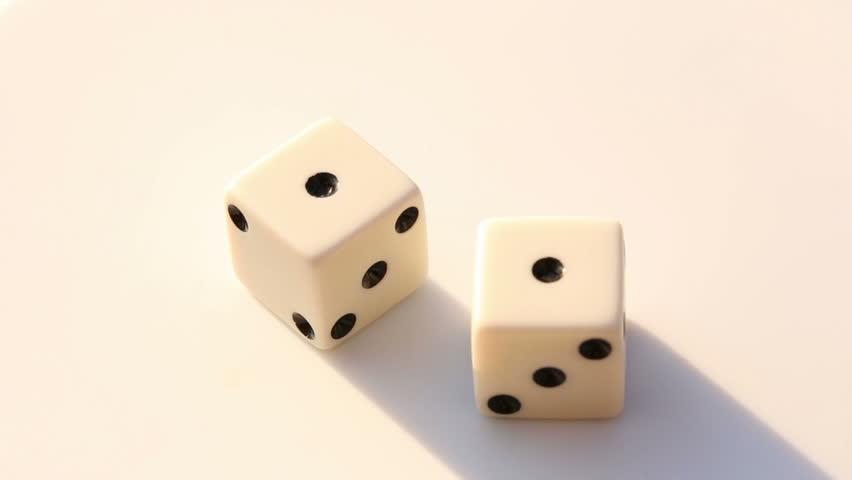 Gambling dice, up close double singles | Shutterstock HD Video #25628141