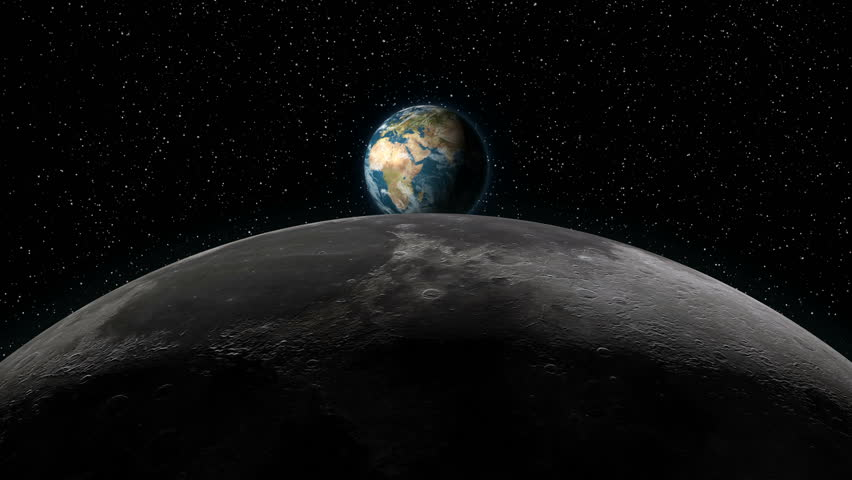 Sun Earth And Stars Space Background Animated Moon And Sun ...