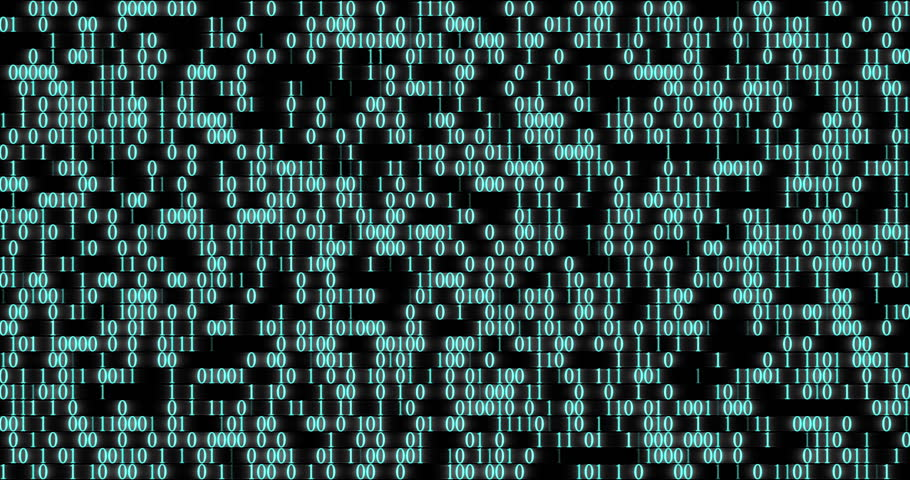 Binary code wall random numbers glowing on a black background  | Shutterstock HD Video #25666781