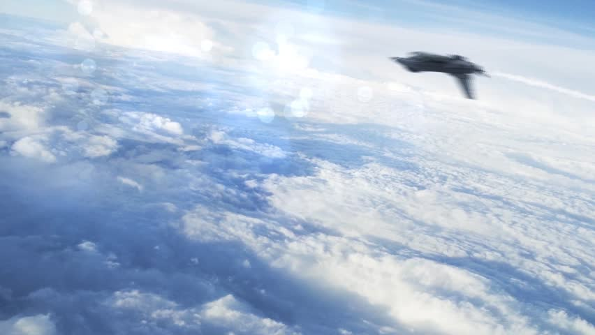 F-16 Fighting Aircraft Jet Green Screen Smoke 3D Rendering Background