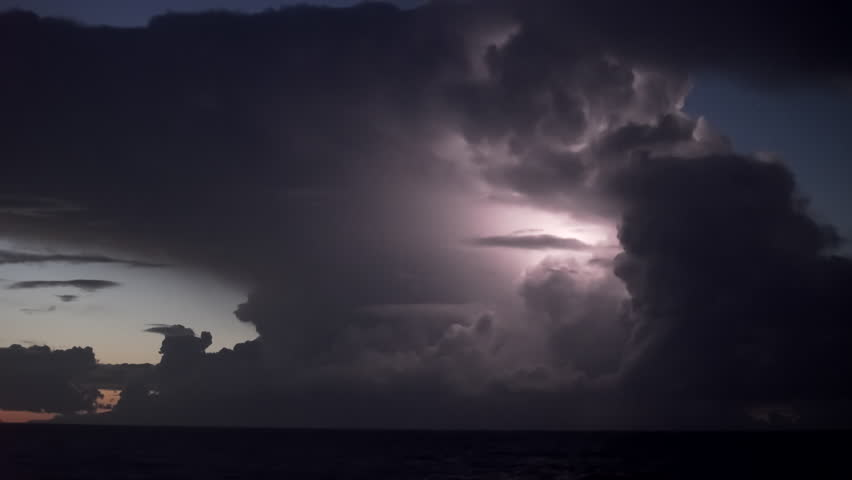 Real time Thunderstorm lightning flashes | Shutterstock HD Video #25701791