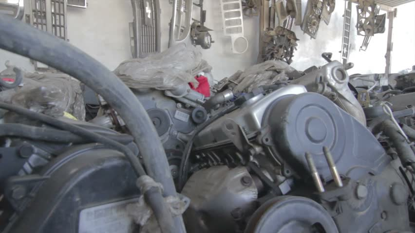 Engines in Scrap Yard