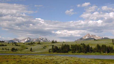 Canyon Flat Yellowstone Obsidian Creek Grand Loop Road Mount Holmes