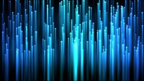 Rising Particle Beams Background Animation -  Blue
