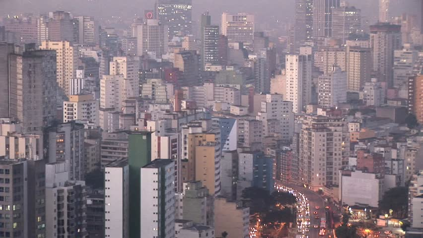 Aerial View of Sao Paulo's Densely Built Cityscape  | Shutterstock HD Video #2577041