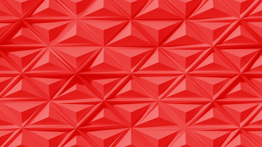 Abstract Polygonal Geometric Surface Loop 3F: bright clean warm hot red soft low poly triangular pyramid motion background pattern of area shifting edges of triangles. Seamless loop. 4K UHD, FullHD.  | Shutterstock HD Video #25778951