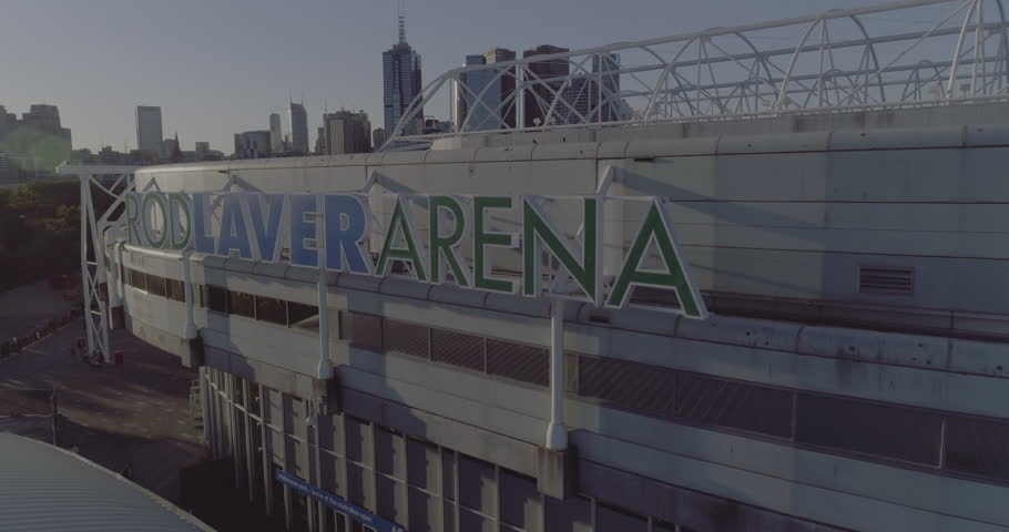 Melbourne Australia. 20 March 2017: Aerial view of Rod Laver Arena. It is a multipurpose arena and is the main venue for the Australian Open tennis Grand Slam.