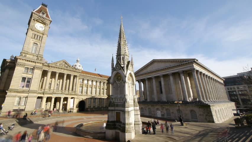 Chamberlain Square in Birmingham, England.