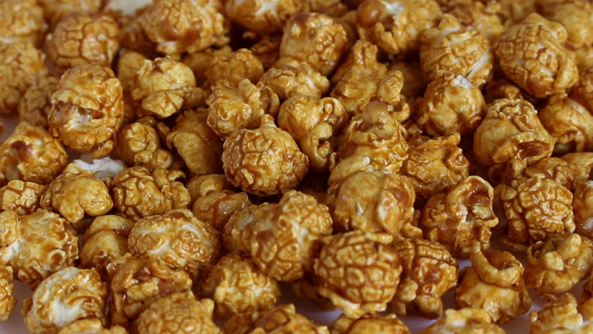 Close up of caramel popcorn. Food and sweets | Shutterstock HD Video #25854191