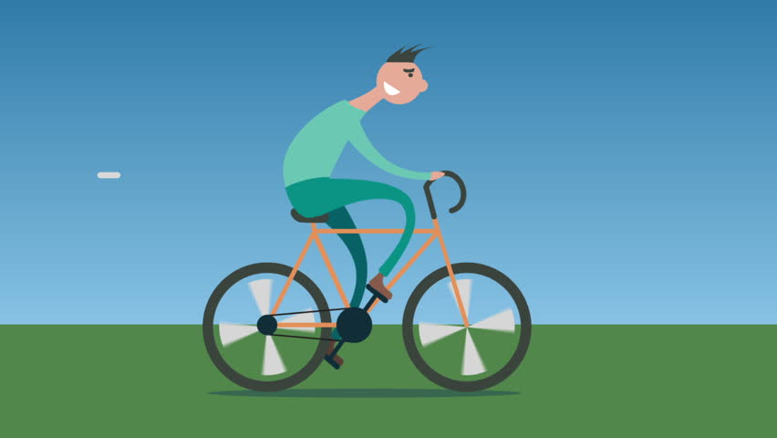 RIDE TO WILD WHEELS Man Try To Ride To Wild Bicycle.2D ...