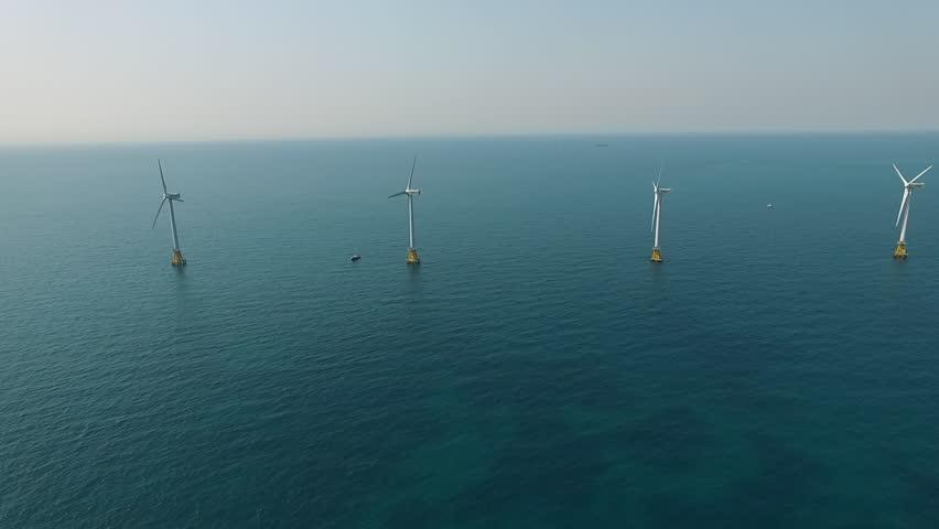 The wind Farm offshore in Jeju island, South Korea